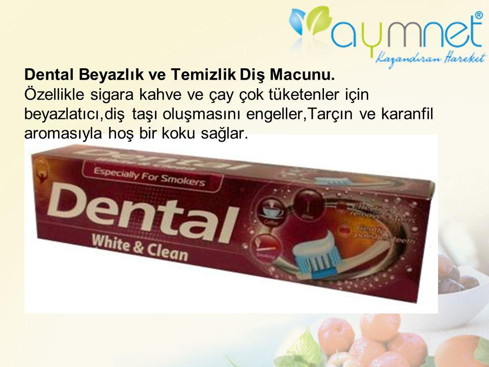 Dental Beyazlık ve Temizlik Diş Macunu. Özellikle sigara kahve ve çay çok tüketenler için beyazlatıcı,diş taşı oluşmasını engeller,Tarçın ve karanfil