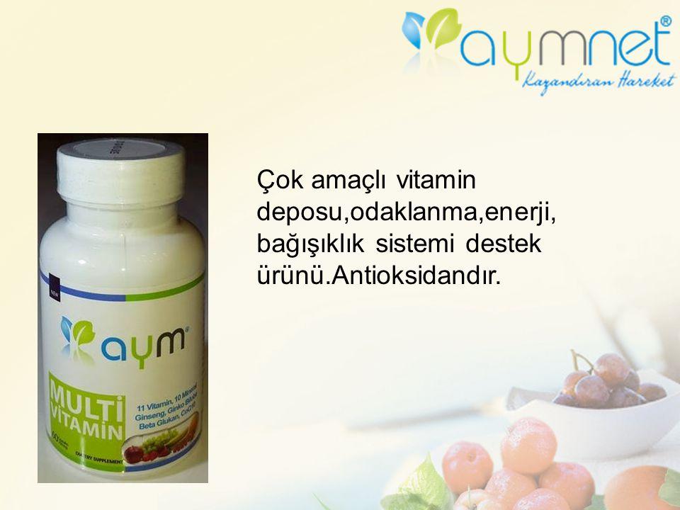 Çok amaçlı vitamin deposu,odaklanma,enerji, bağışıklık sistemi destek ürünü.Antioksidandır.