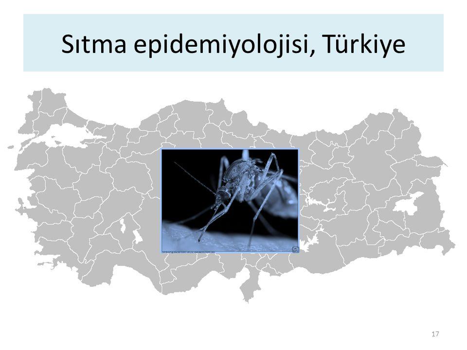 Sıtma epidemiyolojisi, Türkiye 17
