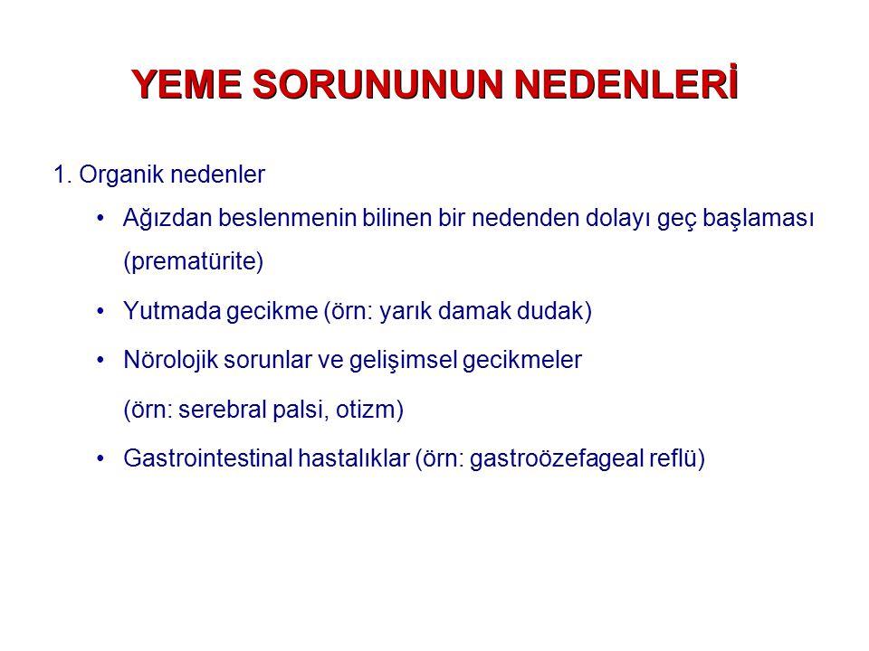 YEME SORUNUNUN NEDENLERİ 2.