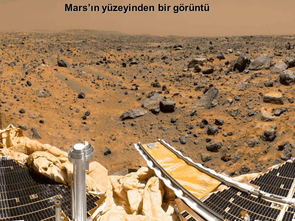 Mars'ın yüzeyinden bir görüntü