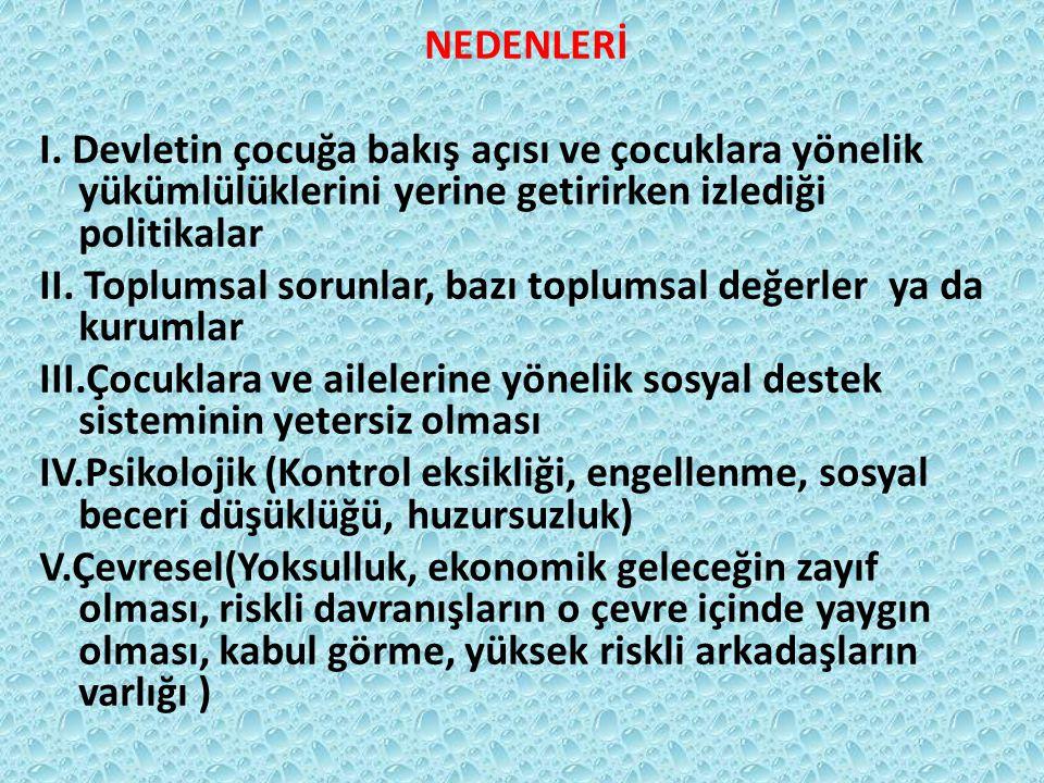 NEDENLERİ I.