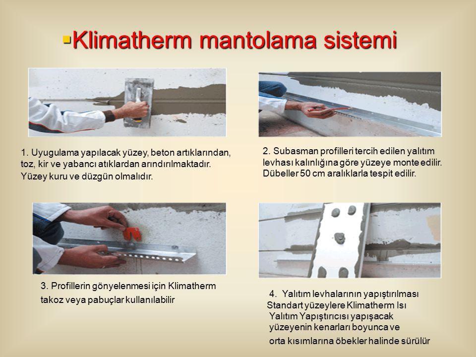  Klimatherm mantolama sistemi 1.