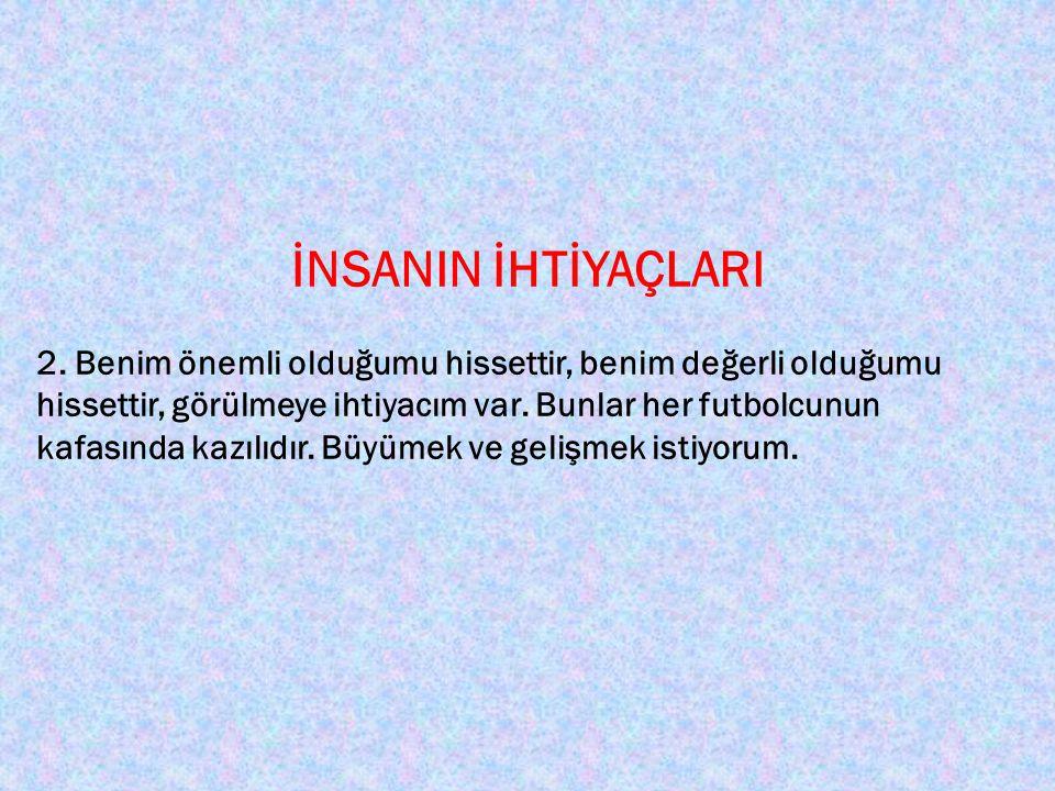 İNSANIN İHTİYAÇLARI 3.