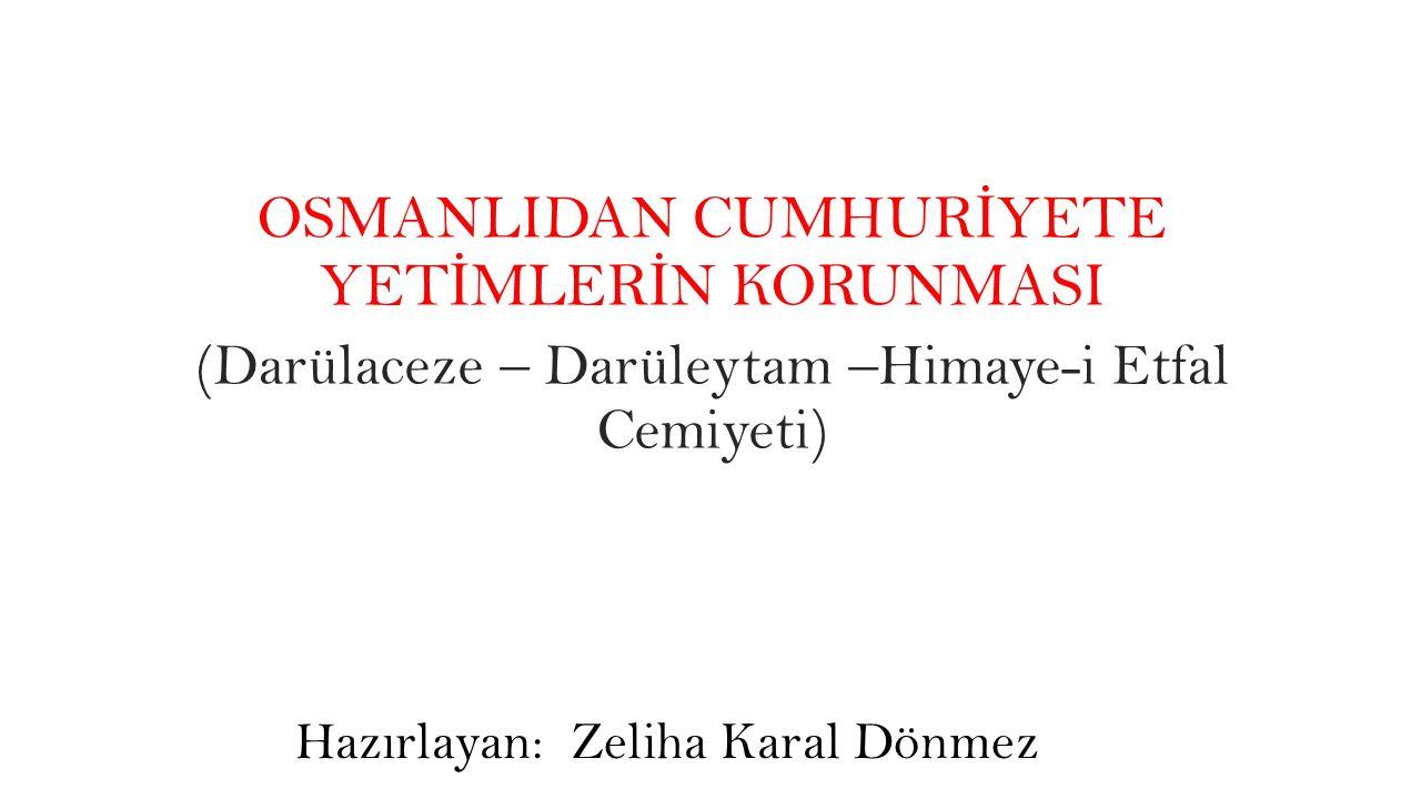 Yıldırım N.(1996). İstanbul darülaceze tarihi. İstanbul: Numune (Darülaceze Vakfı) Çay M.