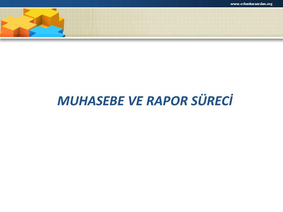 MUHASEBE VE RAPOR SÜRECİ www.erkankaraarslan.org