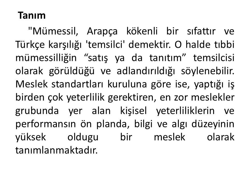 Tanım Mümessil, Arapça kökenli bir sıfattır ve Türkçe karşılığı temsilci demektir.