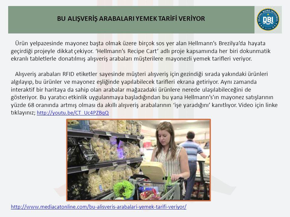 http://www.mediacatonline.com/bu-alisveris-arabalari-yemek-tarifi-veriyor/ BU ALIŞVERİŞ ARABALARI YEMEK TARİFİ VERİYOR Ürün yelpazesinde mayonez başta olmak üzere birçok sos yer alan Hellmann's Brezilya'da hayata geçirdiği projeyle dikkat çekiyor.