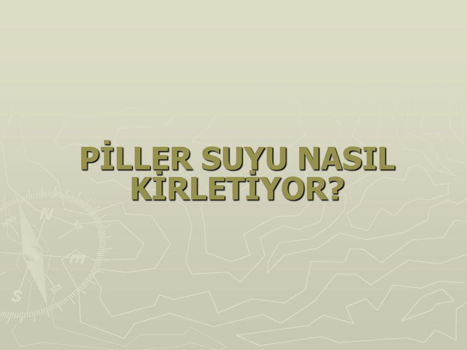 PİLLER SUYU NASIL KİRLETİYOR?