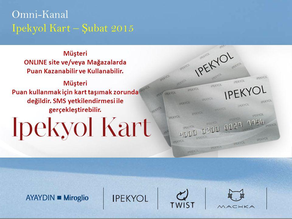 Omni-Kanal Ipekyol Kart – Ş ubat 2015 Müşteri ONLINE site ve/veya Mağazalarda Puan Kazanabilir ve Kullanabilir. Müşteri Puan kullanmak için kart taşım