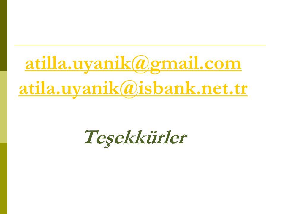 atilla.uyanik@gmail.com atila.uyanik@isbank.net.tr Teşekkürler atilla.uyanik@gmail.com atila.uyanik@isbank.net.tr