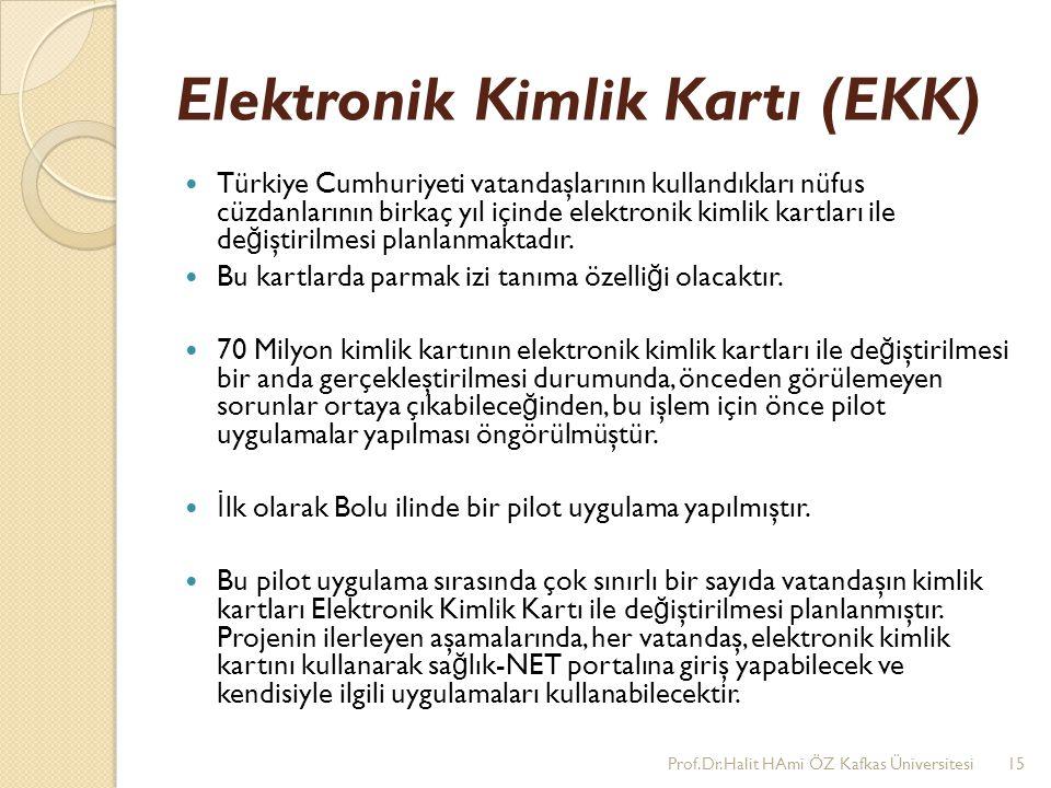 Elektronik Kimlik Kartı (EKK) Türkiye Cumhuriyeti vatandaşlarının kullandıkları nüfus cüzdanlarının birkaç yıl içinde elektronik kimlik kartları ile d
