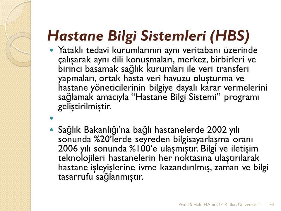 Hastane Bilgi Sistemleri (HBS) Yataklı tedavi kurumlarının aynı veritabanı üzerinde çalışarak aynı dili konuşmaları, merkez, birbirleri ve birinci bas