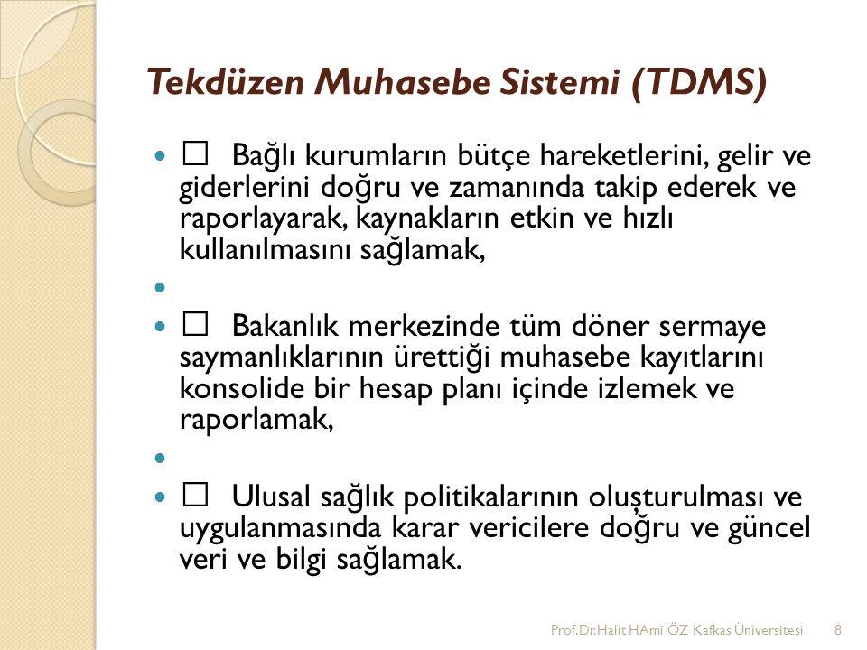Tekdüzen Muhasebe Sistemi (TDMS) •Ba ğ lı kurumların bütçe hareketlerini, gelir ve giderlerini do ğ ru ve zamanında takip ederek ve raporlayarak, kayn