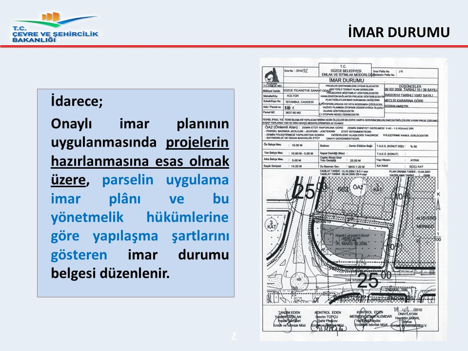 GEÇİCİ MADDE 6- 22/5/2014 tarihinden önce aşağıda sıralanan;  Yıkım ruhsatı başvurusu,  Bina yıkım işlemi,  Riskli yapı tespiti işlemi,  Bakanlıkça lisanslandırılan kuruluşlarca yapı kimlik numarası alınarak riskli yapı tespitine başlama işlemi,  İnşaat sözleşmesi tanzimi,  Proje sözleşmesi tanzimi,  İnşaat veya proje yapmak üzere noter tasdikli taahhütname veya vekâletname tanzimi,  Yeni inşaat yapmak üzere; ifraz, tevhit, yola terk işlemi başvurusu  İmar durum belgesi, yol kotu tutanağı, aplikasyon krokisi başvurusu,  Zemin ve temel etüt raporu tanzimi, başvuru veya işlemlerinden en az birinin gerçekleştirilmiş olması halinde,