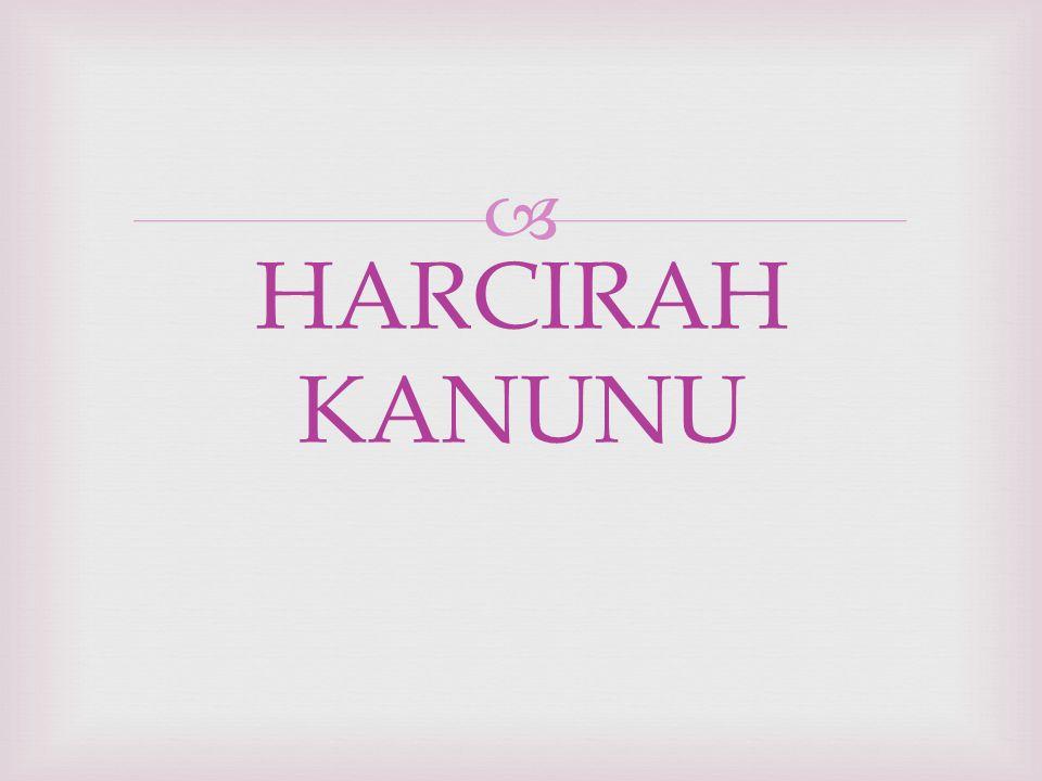  HARCIRAH KANUNU