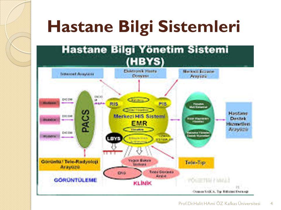 Hastane Bilgi Sistemleri Prof.Dr.Halit HAmi ÖZ Kafkas Üniversitesi4