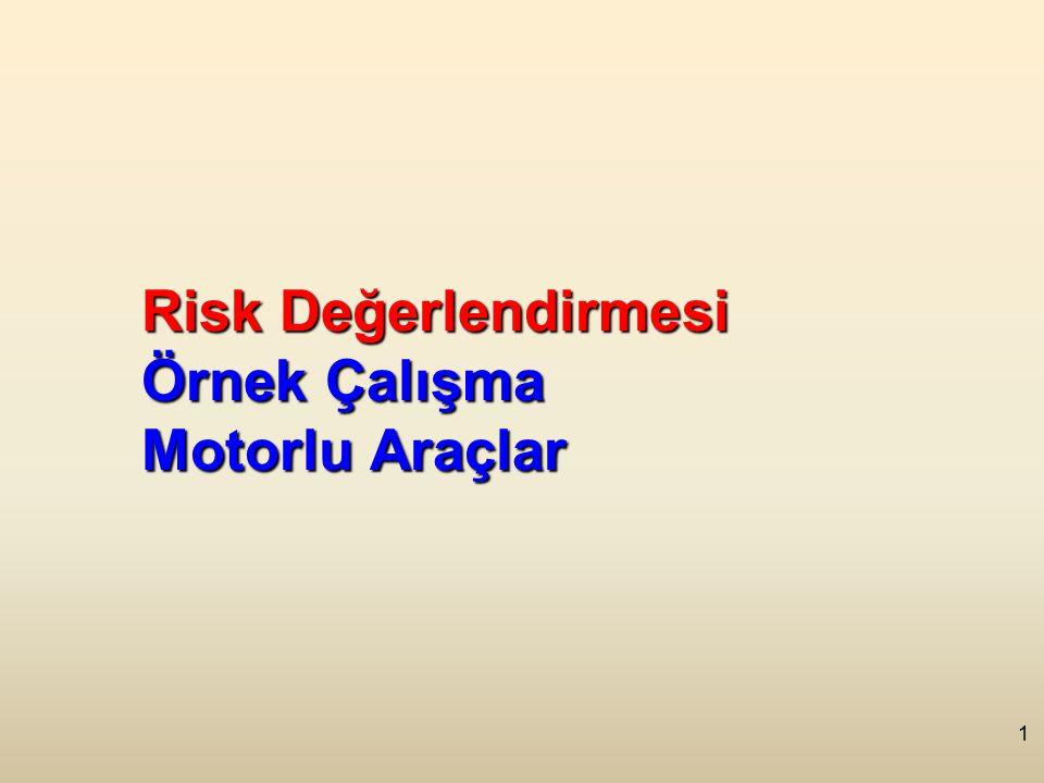 1 Risk Değerlendirmesi Örnek Çalışma Motorlu Araçlar