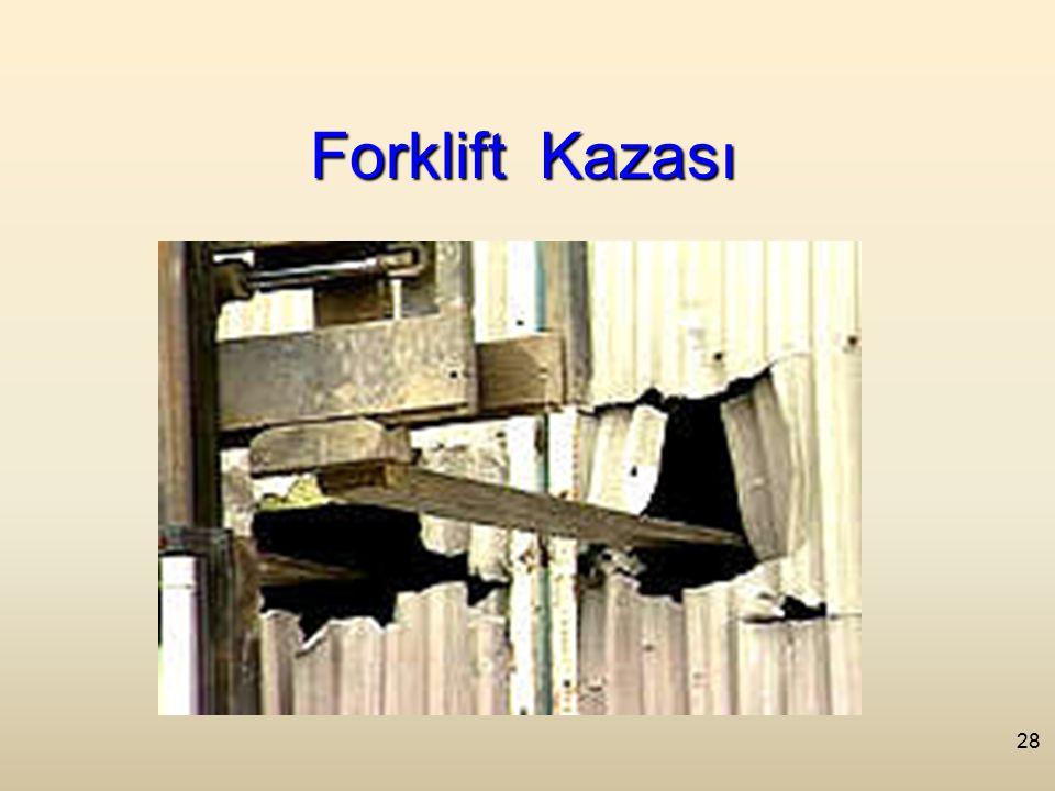 28 Forklift Kazası