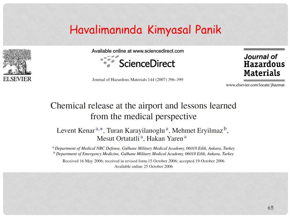 65 Havalimanında Kimyasal Panik