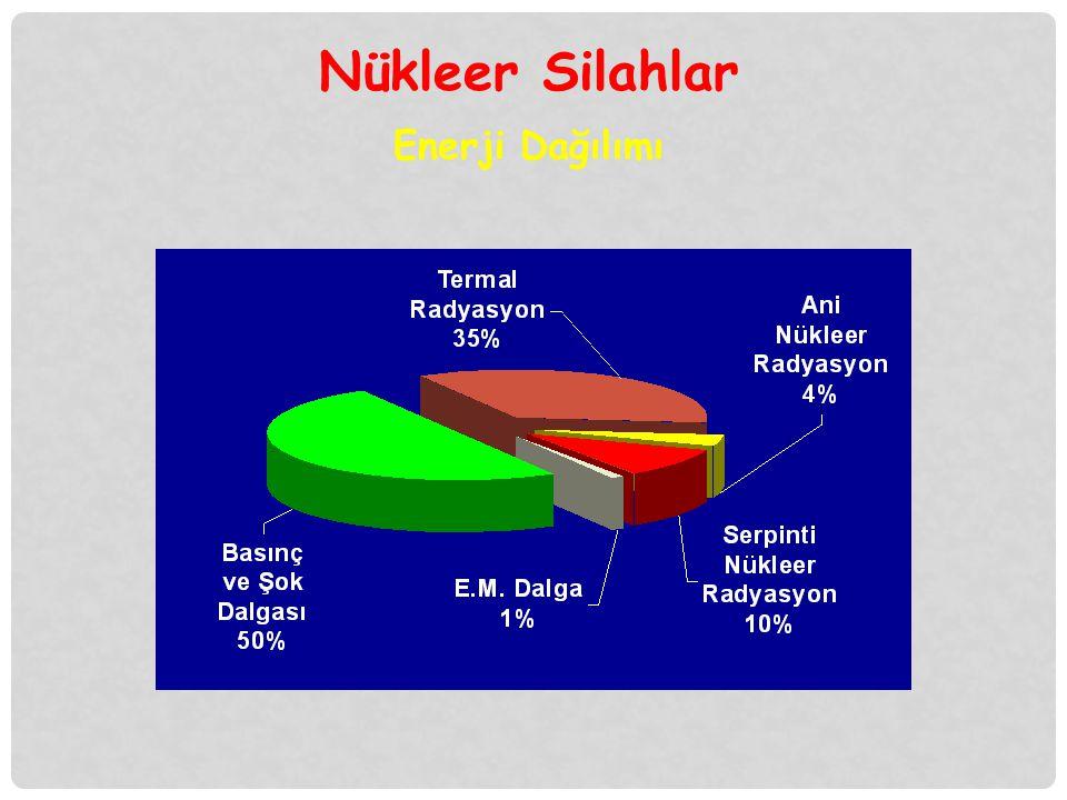 İyonizan Radyasyon Ani Nükleer Radyasyon (% 4 ) Serpinti Nükleer Radyasyon (% 10)  Nötron  Gama Işını  Alfa Işını  Beta Işını  Gama Işını Nükleer Silahlar
