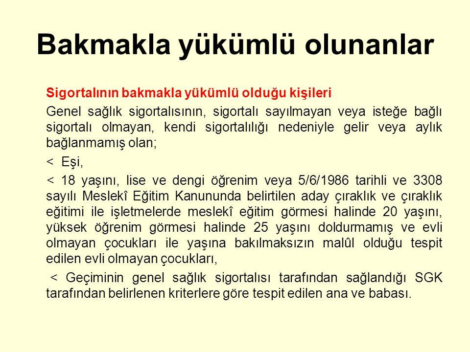 Hastalık/analık hallerinde sağlanan haklar Geçici iş göremezlik ödeneği Sigortalı kadına veya sigortalı olmayan karısının doğum yapması nedeniyle sigortalı erkeğe, kendi çalışmalarından dolayı gelir veya aylık alan kadına ya da gelir veya aylık alan erkeğin sigortalı olmayan eşine, çocuğun yaşaması şartı ile her çocuk için doğum tarihinde geçerli olan ve SGK Yönetim Kurulunca belirlenip ÇSG Bakanı tarafından onaylanan tarife üzerinden emzirme ödeneği verilir.