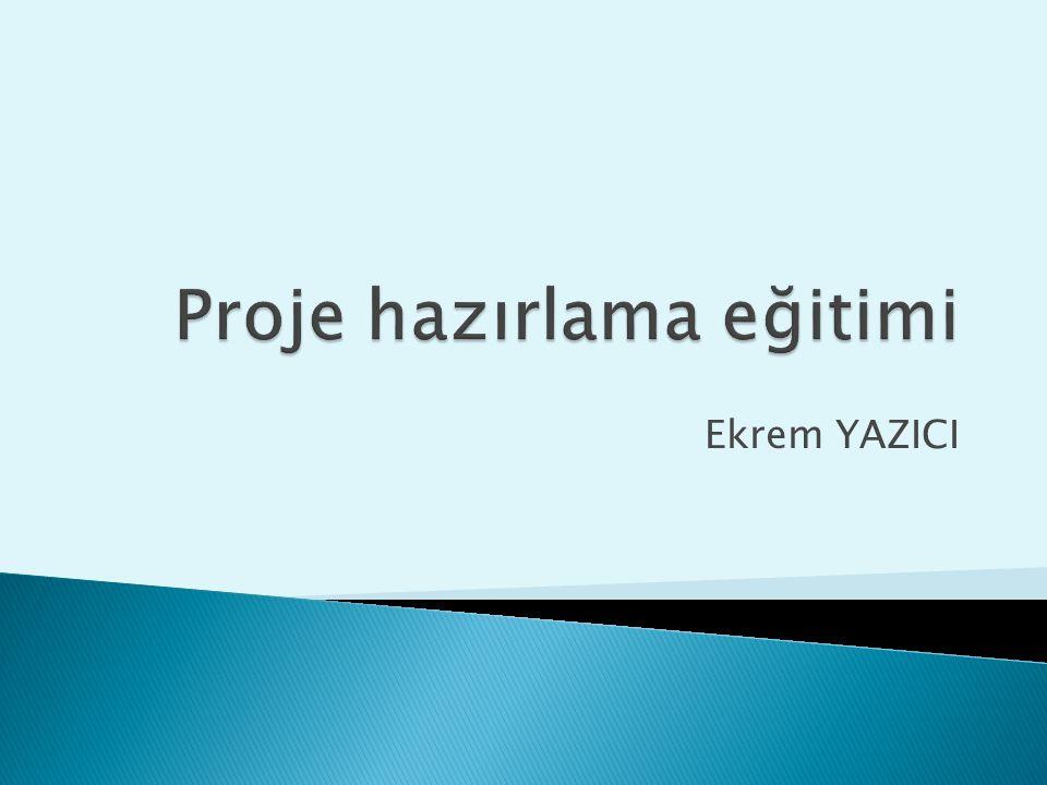 Proje hazırlama eğitimi12 1.Paydaş Analizi (Paydaş analiz matrisi) 2.Problem Analizi (Problem ağacı) 3.Hedef/Amaç Analizi 4.Strateji Analizi 5.Mantıksal Çerçeve Matrisinin Hazırlanması 6.Faaliyet Planının Hazırlanması 7.Bütçenin Hazırlanması