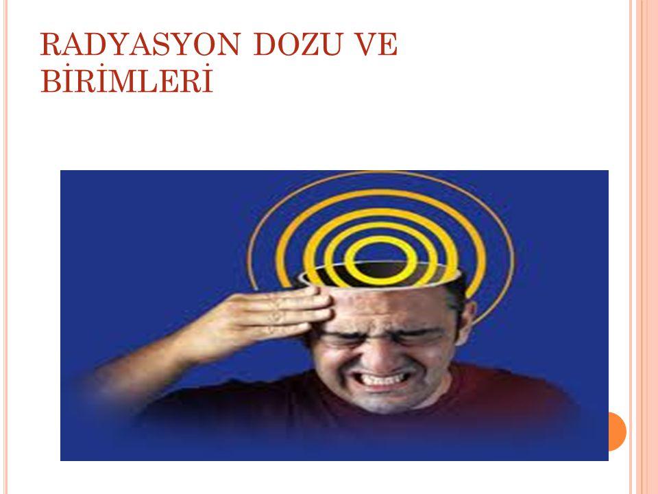 RADYASYON DOZU VE BİRİMLERİ