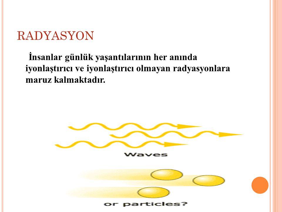 RADYASYON DOZU VE BİRİMLERİ Soğurulmuş Doz Birimi Birim kütle başına depolanan enerjinin ölçüsüdür.