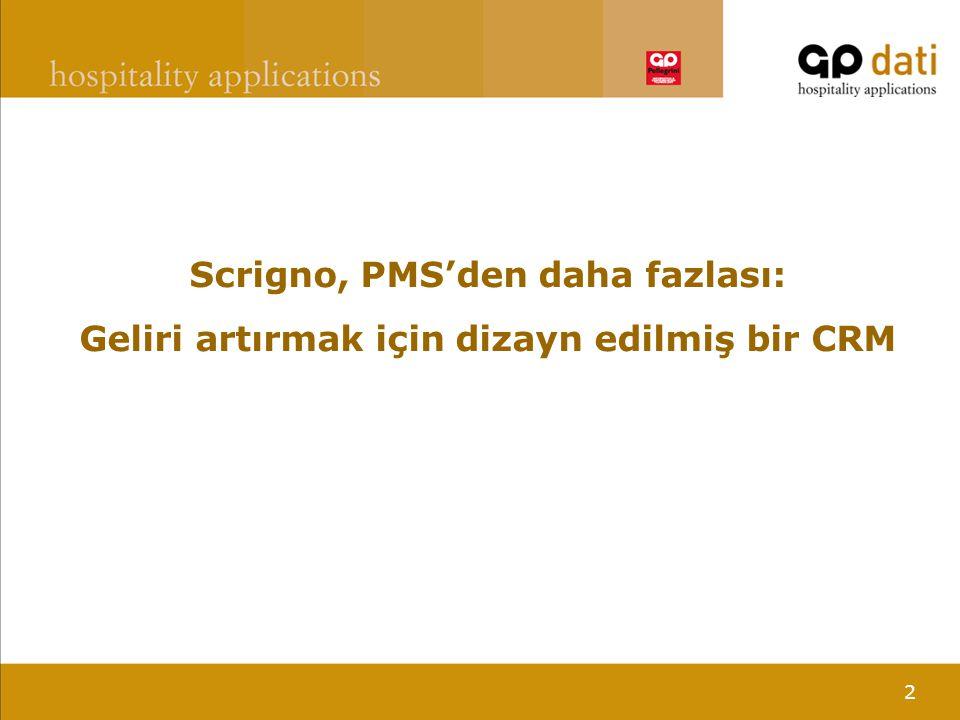 2 Scrigno, PMS'den daha fazlası: Geliri artırmak için dizayn edilmiş bir CRM