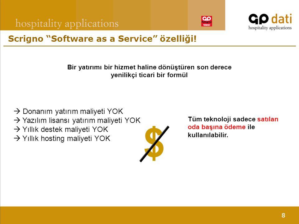 8 Scrigno Software as a Service özelliği.