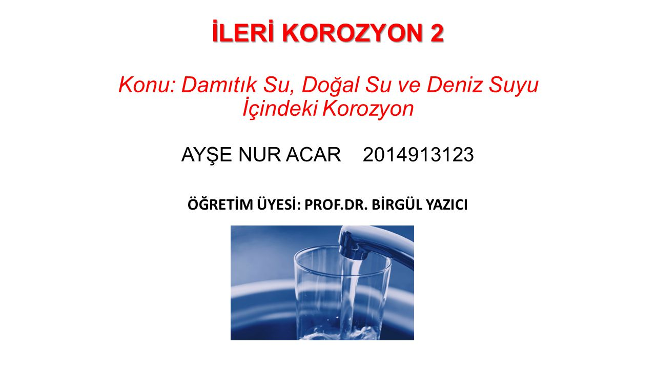Korozyon Yönetimi Document Extent and Magnitude of Corrosion Determine Possible Causes of Corrosion Develop and Asses Corrosion Control Alternatives Evaluate Alternatives and Select Corrosion Control Strategy Document Findings in Engineering Report İmplement Corrosion Control and Monitoring Effectiveness Step 1 Step 2 Step 3 Step 4 Step 5 Step 6 Water Quality Impact Piping Deterrioation Environmental Issues Water Quality Characteristics Susceptible Piping Workmanship and Materials pH and Alkalinity CaCO 3 Saturation Inhibitors Material Replacement Performance Cost Side Effects Formal Documentation Regulatory Requirements Design, Construction, Start-up Treatment Monitoring Distribution System Monitoring Corrosion Control Program Implementation Flowchart