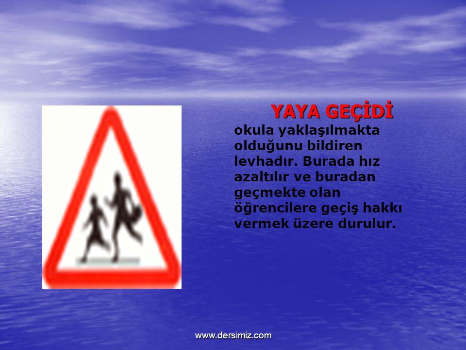 DİKKAT ! Tehlike uyarı işaretleriyle bildirilen tehlikeler dışında kalan diğer tehlikeleri bildirir. Bu tehlikelerin ne olduğu ilave bir panel levha i