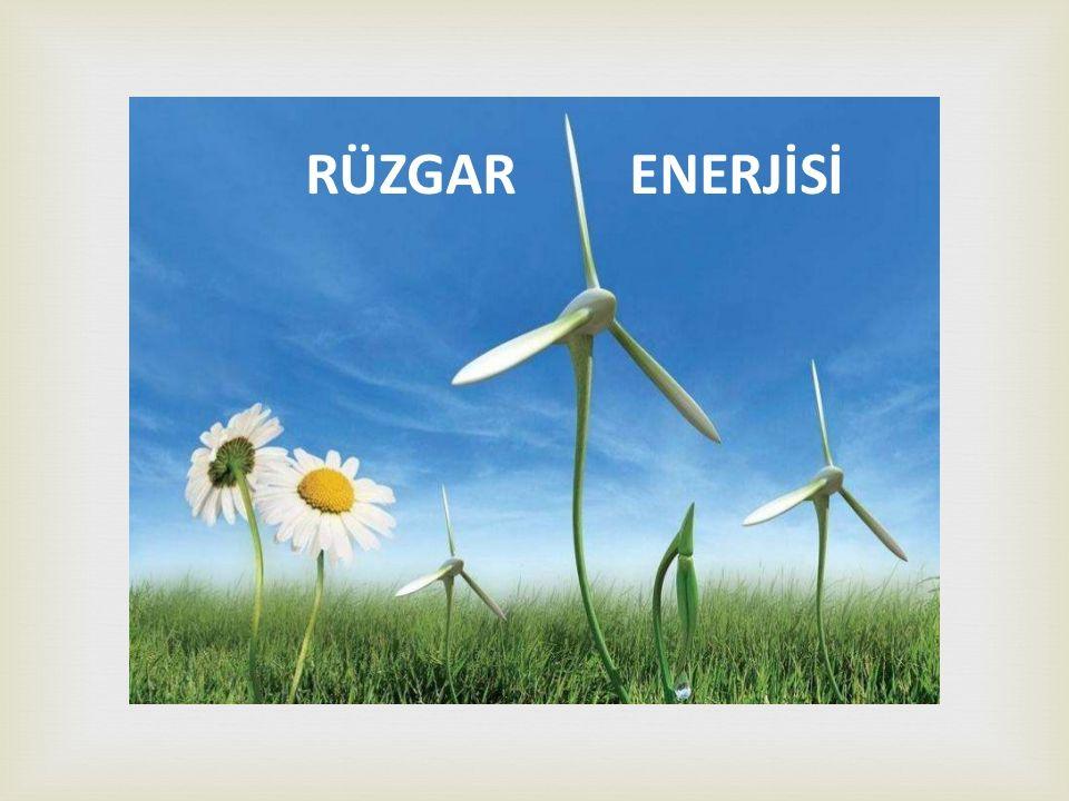  RÜZGAR TÜRBİNİ ÇALIŞMA PRENSİBİ * Bir rüzgâr türbini genel olarak kule, jeneratör,hız dönüştürücüleri (dişli kutusu), elektrik-elektronik elemanlar ve pervaneden oluşur.