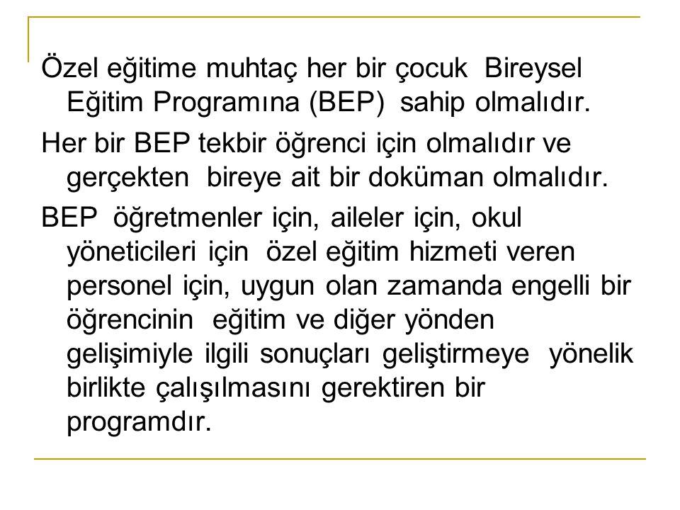 Ayrıca BEP yazımının ötesinde, BEP uygulanmasında özel görevleri de vardır.