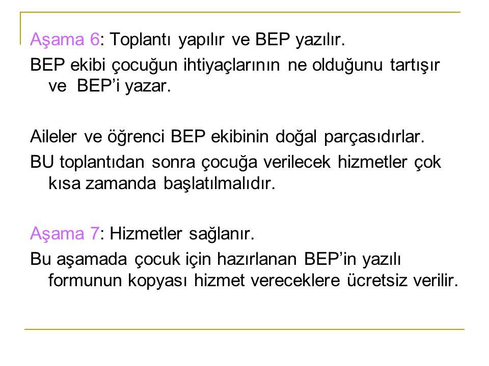 BEP Ekibinin Kurulması İçin İlgili Servisler BEP için şu servislerin görev alması gerekir: 1.Odyoloji servisleri 2.