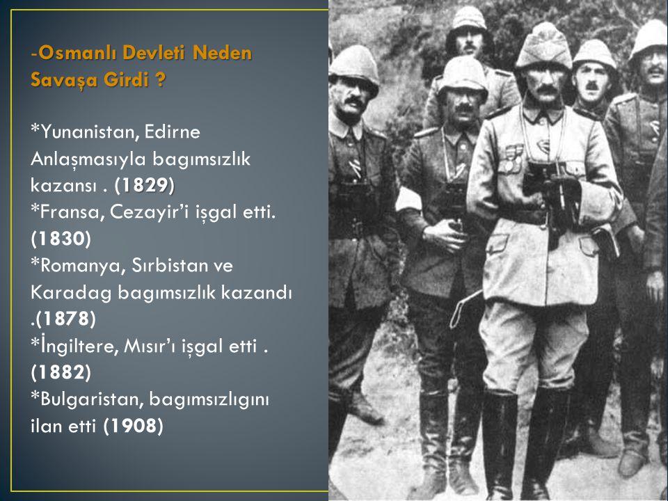 Osmanlı Devleti Neden Savaşa Girdi . -Osmanlı Devleti Neden Savaşa Girdi .
