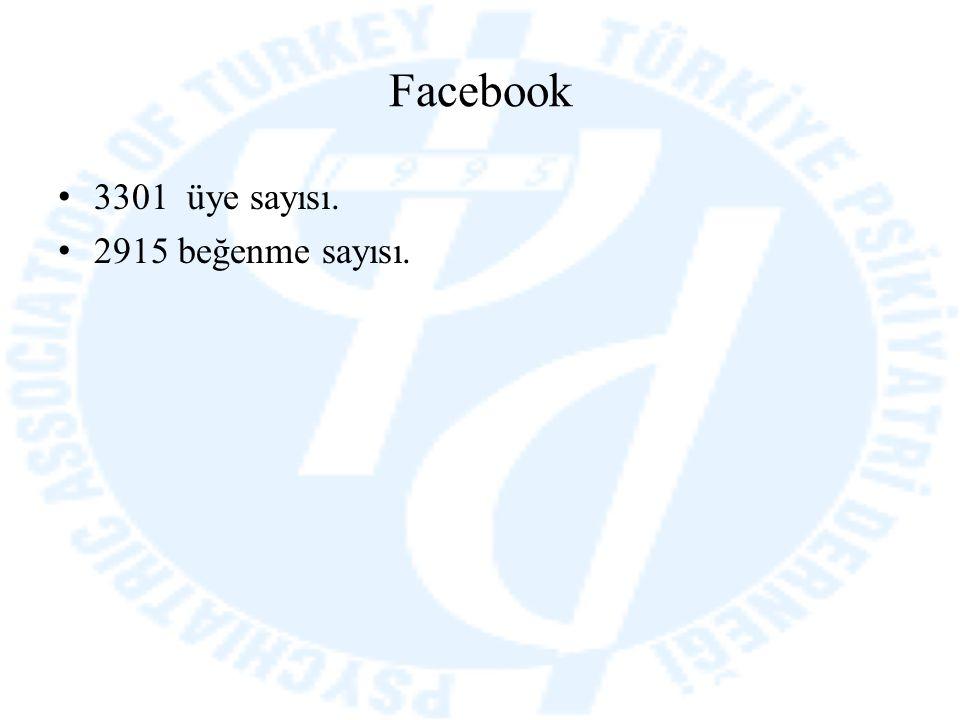 Facebook 3301 üye sayısı. 2915 beğenme sayısı.