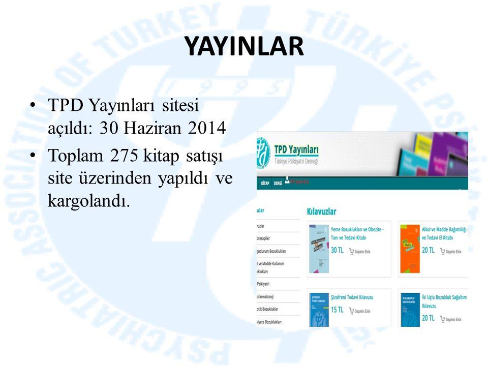 YAYINLAR TPD Yayınları sitesi açıldı: 30 Haziran 2014 Toplam 275 kitap satışı site üzerinden yapıldı ve kargolandı.