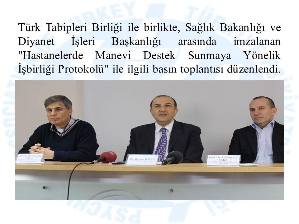 Türk Tabipleri Birliği ile birlikte, Sağlık Bakanlığı ve Diyanet İşleri Başkanlığı arasında imzalanan