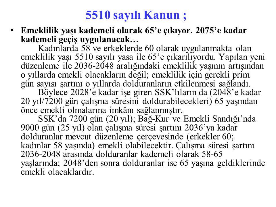5510 sayılı Kanun Geliri düşük vatandaşlarımızın, terörle mücadele aylığı alanların GSS Primi Devlet Tarafından Karşılanacak...