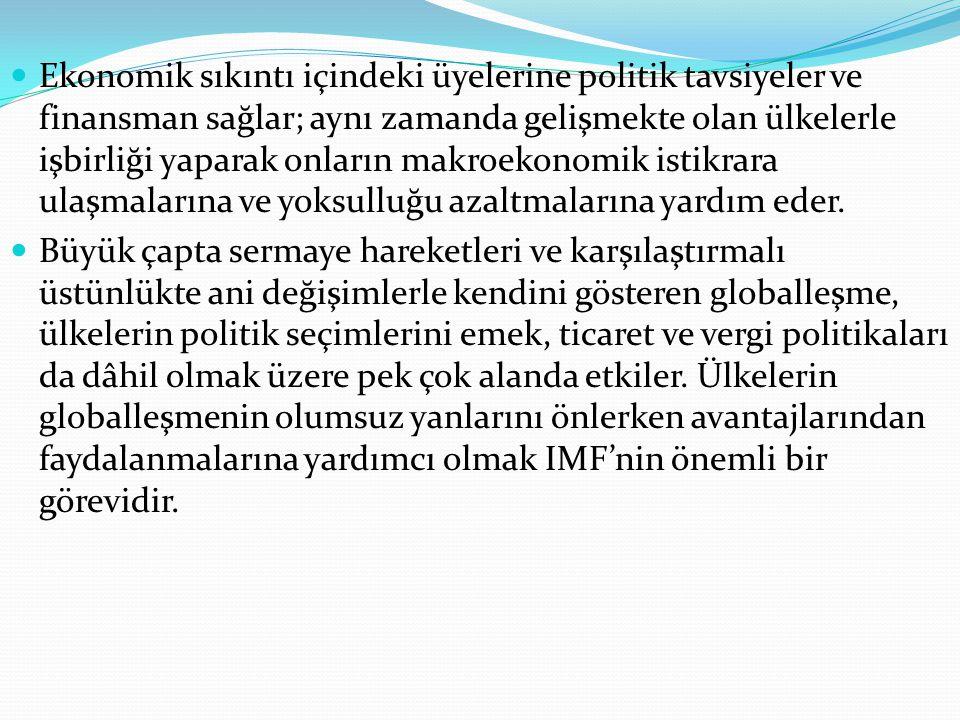 IMF'nin YÖNETİM YAPISI IMF'nin yönetim yapısı şu şekildedir: IMF'nin en üst karar organı Yönetim Kurulu'dur.