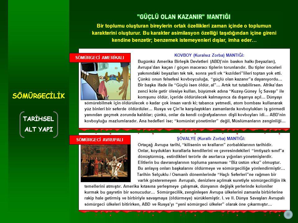 ŞÖVALYE (Kurallı Zorba) MANTIĞI: Ortaçağ Avrupa tarihi, kilisenin ve kralların zorbalıklarının tarihidir.