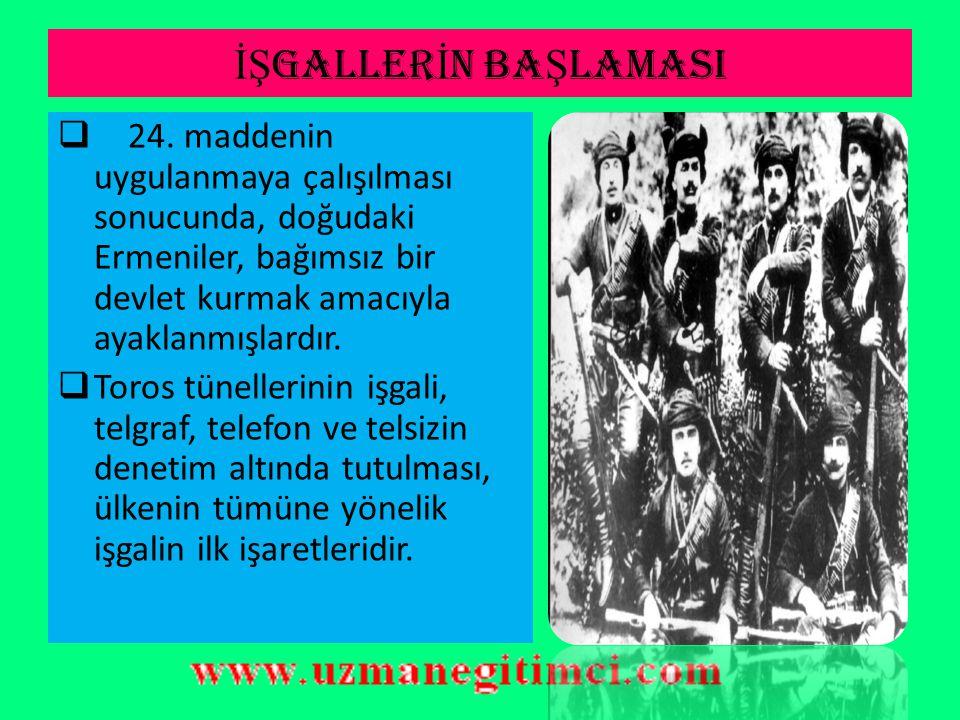 MONDROS ATE Ş KES ANTLA Ş MASI İ LE...  Ordunun büyük bir bölümü terhis edilip, silahlarına el konulacaktı. Bu uygulama ile Osmanlı Devleti, savunma