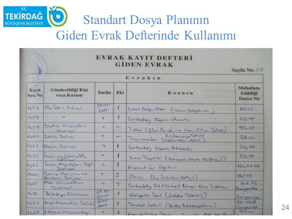 Standart Dosya Planının Gelen Evrak Defterinde Kullanımı 25