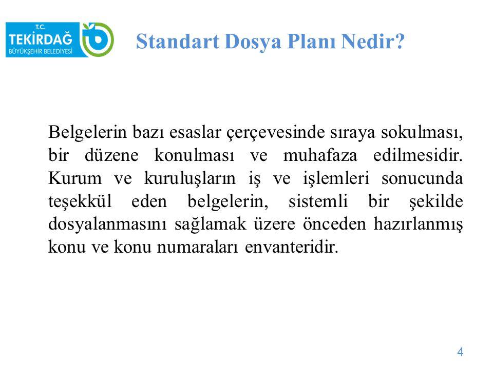 Kapsamında ki Kurumlar Nelerdir? Standart Dosya Planı tüm kamu kurum ve kuruluşlarını kapsar. 5