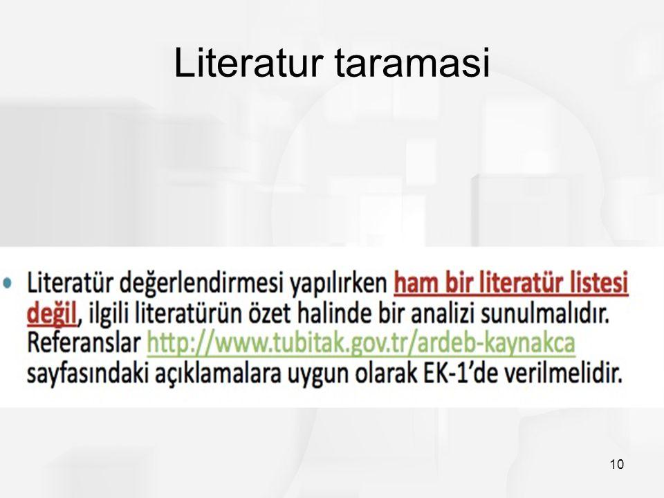Literatur taramasi 10