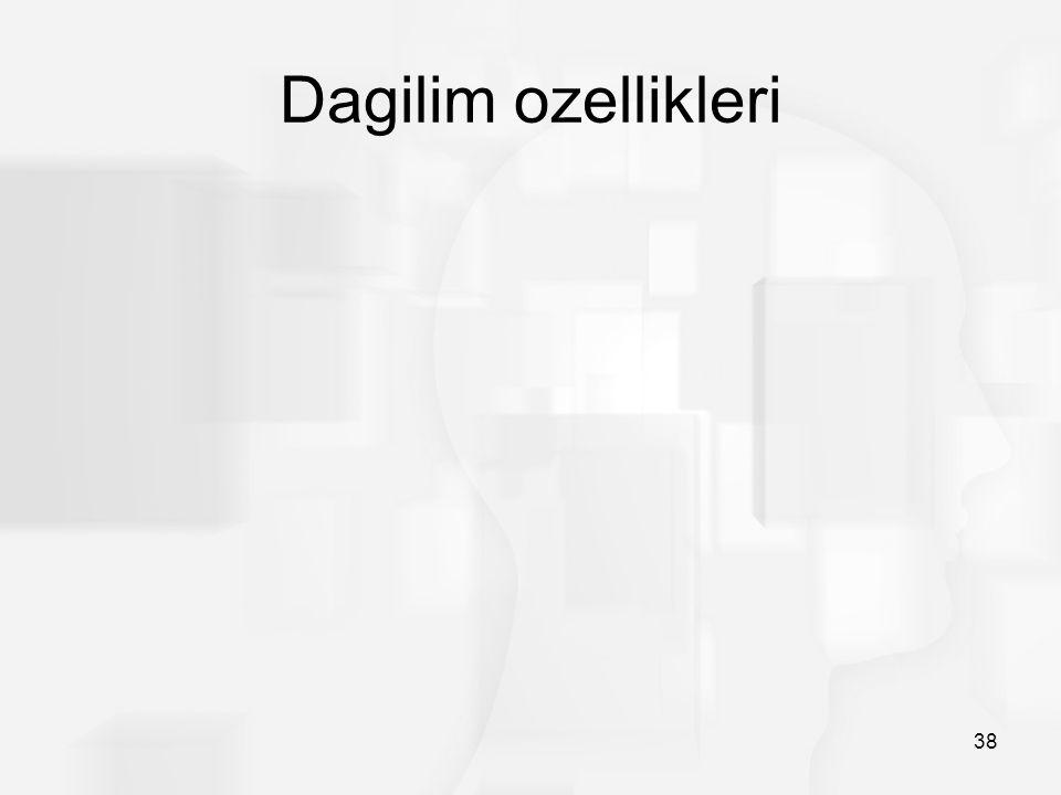 Dagilim ozellikleri 38