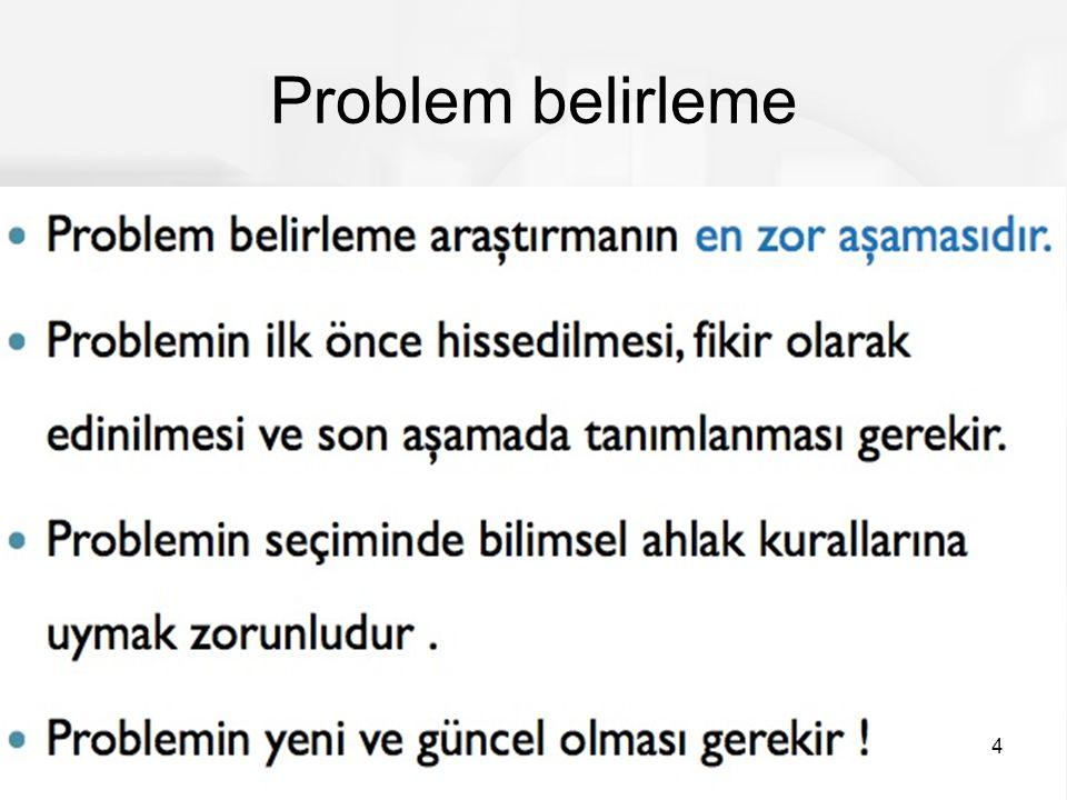 Problem belirleme 4