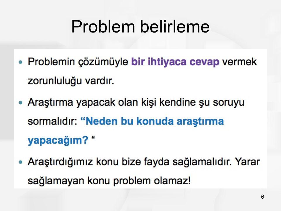 Problem belirleme 6
